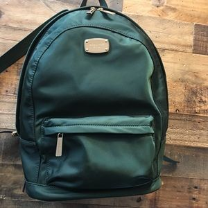 Michael Kors Large Jet Set Nylon Backpack Green